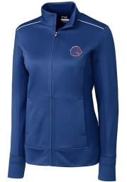Cutter and Buck Boise State Broncos Womens Blue Ridge Long Sleeve Full Zip Jacket
