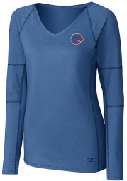 Cutter and Buck Boise State Broncos Womens Blue Victory LS Tee