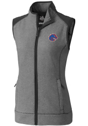Cutter and Buck Boise State Broncos Womens Grey Cedar Park Vest