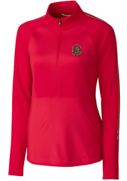 Cutter and Buck Cornell Big Red Womens Red Pennant Sport Long Sleeve Full Zip Jacket