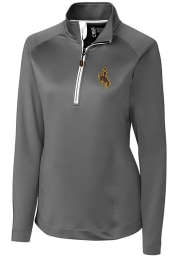 Cutter and Buck Wyoming Cowboys Womens Grey Jackson 1/4 Zip Pullover