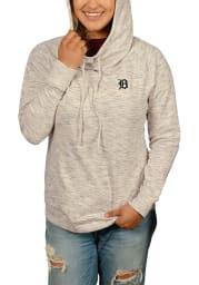 Cutter and Buck Detroit Tigers Womens Oatmeal Tie Breaker Hooded Sweatshirt
