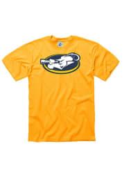 La Salle Explorers Gold Big Logo Short Sleeve T Shirt
