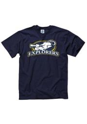 La Salle Explorers Navy Blue Big Logo Short Sleeve T Shirt