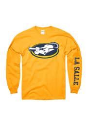La Salle Explorers Gold Logo Long Sleeve T Shirt