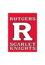 Rutgers Scarlet Knights 30x40 Red Silk Scren Banner