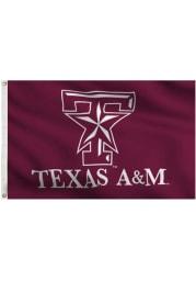 Texas A&M Aggies 3x5 Maroon Grommet Maroon Silk Screen Grommet Flag