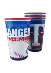 Texas Rangers 20oz 4 pk Disposable Cups