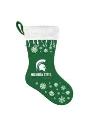 Michigan State Spartans Snowflake Stocking