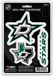 Sports Licensing Solutions Dallas Stars 3 Pack Team Logo Auto Decal - Black