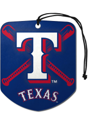 Sports Licensing Solutions Texas Rangers 2 Pack Shield Auto Air Fresheners - Blue