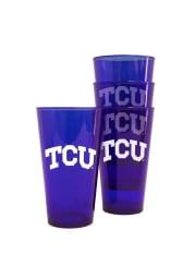 TCU Horned Frogs Purple Pint Set Plastic Drinkware