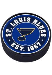 St Louis Blues Established Textured Hockey Puck