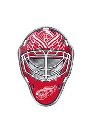 Detroit Red Wings Goalie Full Color Car Emblem - Red