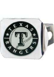 Texas Rangers Chrome Car Accessory Hitch Cover