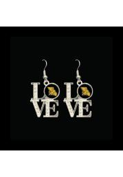 Missouri Western Griffons Love Womens Earrings