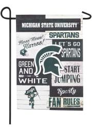 Michigan State Spartans 13x18 inch Linen Fan Rules Garden Flag