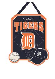 Detroit Tigers Felt Door Decor Banner