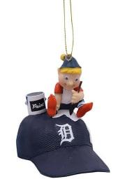 Detroit Tigers Team Elf Ornament