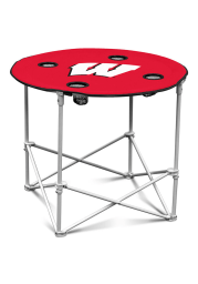 Wisconsin Badgers Round Tailgate Table