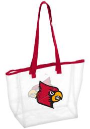Louisville Cardinals White Clear Clear Bag