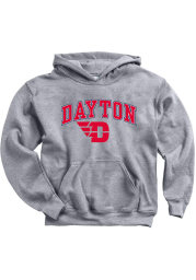 Dayton Flyers Youth Grey Midsize Long Sleeve Hoodie