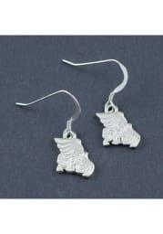 Missouri Western Griffons Silver Dangle Womens Earrings