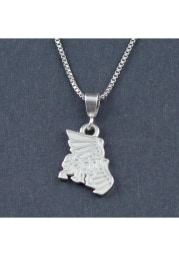 Missouri Western Griffons Silver Charm Necklace
