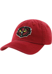 Top of the World Temple Owls Baby Crew Adjustable Hat - Maroon