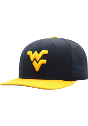 Top of the World West Virginia Mountaineers Navy Blue Maverick Youth Snapback Hat