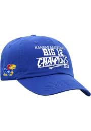 Kansas Jayhawks 19-20 Regular Season Big 12 Champs Adjustable Hat - Blue