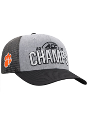 Top of the World Clemson Tigers 2020 ACC Champs Locker Room Adjustable Hat - Grey