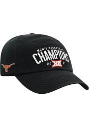 Texas Longhorns 2021 Conference Tournament Champs Adjustable Hat - Black