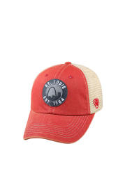 Top of the World St Louis Dirty Mesh Adjustable Hat - Red