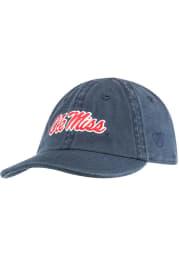 Ole Miss Rebels Baby Mini Me Adjustable Hat - Navy Blue