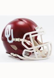 Oklahoma Sooners Crimson Speed Mini Helmet