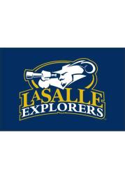 La Salle Explorers 4` x 6` Blue Desk Flag