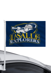 La Salle Explorers 11x16 Blue Silk Screen Car Flag - Navy Blue