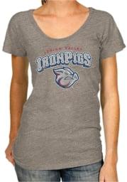 Original Retro Brand Lehigh Valley Ironpigs Womens Grey Triblend Scoop T-Shirt