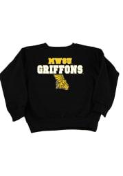 Missouri Western Griffons Toddler Black Mascot Long Sleeve Crew Sweatshirt