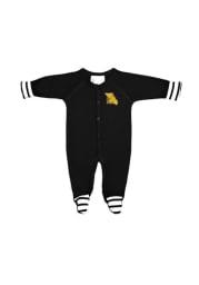 Missouri Western Griffons Baby Black Stripe Loungewear One Piece Pajamas