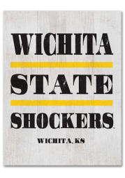 Wichita State Shockers Large Rectangle Block Sign