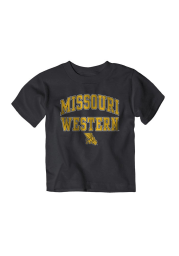 Missouri Western Griffons Toddler Black Arch Mascot Short Sleeve T-Shirt