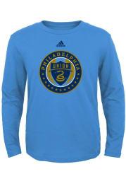 Philadelphia Union Toddler Light Blue Primary Logo Long Sleeve T-Shirt