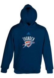 Oklahoma City Thunder Kids Navy Blue Primary Long Sleeve Hoodie