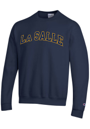 Champion La Salle Explorers Mens Navy Blue Arch Long Sleeve Crew Sweatshirt
