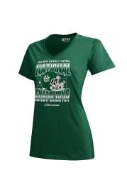 Northwest Missouri State Bearcats Womens Green Locker Room V-Neck T-Shirt