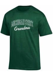 Michigan State Spartans Womens Green Grandma Short Sleeve Unisex Tee