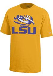 LSU Tigers Youth Gold Eye Logo Short Sleeve T-Shirt