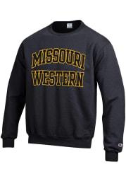 Champion Missouri Western Griffons Mens Black Arch Long Sleeve Crew Sweatshirt